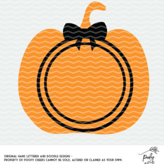 Halloween Pumpkin cut file for Silhouette and Cricut cutting machines.