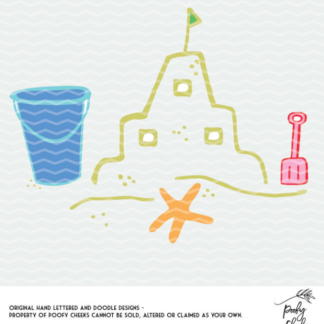 Sandcastle Cut File - DXF, SVG, PNG for Silhouette and Cricut users.