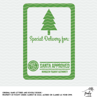 Santa Sack design cut file for use with Silhouette and Cricut