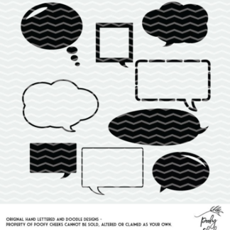Speech bubble cut files for Silhouette and Cricut. Create planner stickers with your cutting machine.