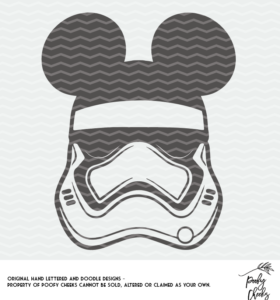 Storm Trooper Mickey cut file for use with Silhouette and Cricut. SVG, PNG and DXF
