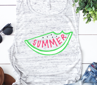 Summer watermelon SVG and DXF for Cricut and Silhouette users.