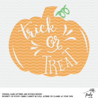 Pumpkin trick or treat cut file to be used with Silhouette and Cricut.