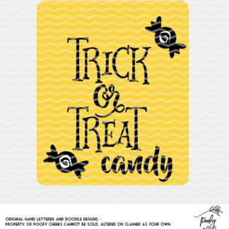 Trick or Treat Cut File for use with Silhouette and Cricut
