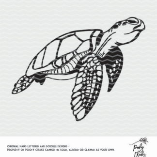 Turtle cut file. Cut file for use with Silhouette and Cricut. DXF, SVG, PNG