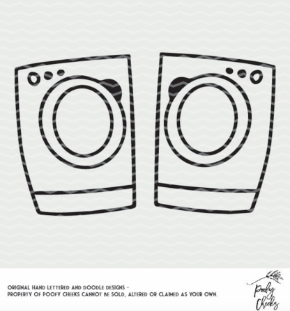 Washer and Dryer cut file for use with Silhouette and Cricut. SVG, PNG and DXF