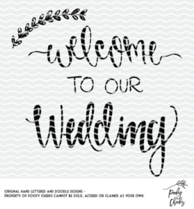 Welcome to our Wedding cut file for use with Silhouette and Cricut. SVG, DXF and PNG