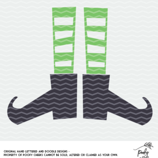 Witch boot cut file for use with Silhouette and Cricut. SVG, PNG and DXF