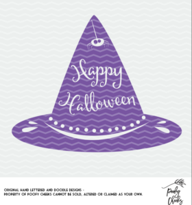 Witch Hat Cut File for use with Silhouette and Cricut. DXF, PNG and SVG