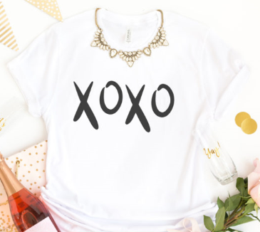 XOXO Cut file for Silhouette and Cricut cutting machines.