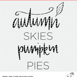 Autumn skies Pumpkin pies design