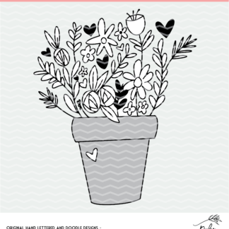 Flower Pot cut file - DXF, SVG and PNG files.