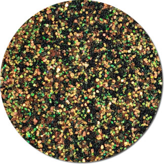 Dark Green and Gold Glitter